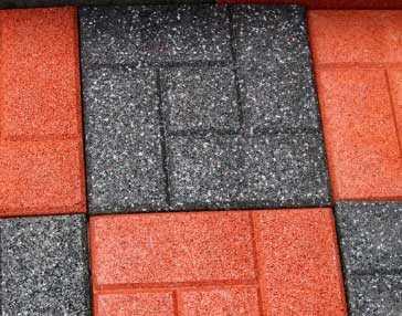 Резиновая тротуарная плитка. сфера применения, особенности укладки