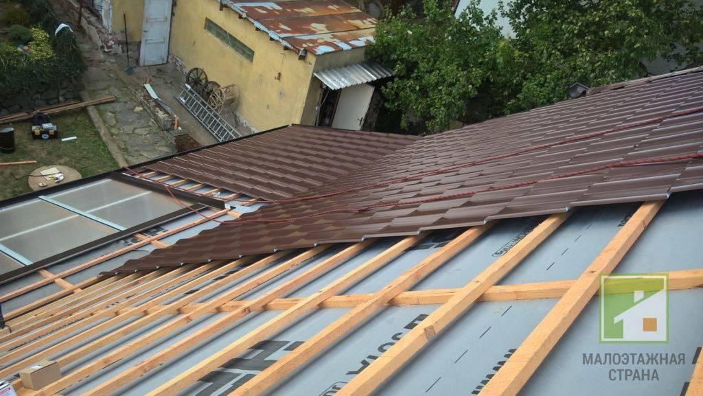 Обрешетка под металлопрофиль на крышу - кровля и крыша