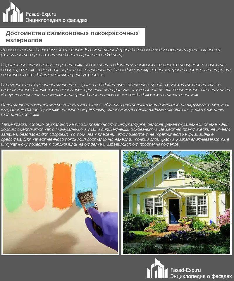 Силиконовые краски: виды, состав, характеристики, применение