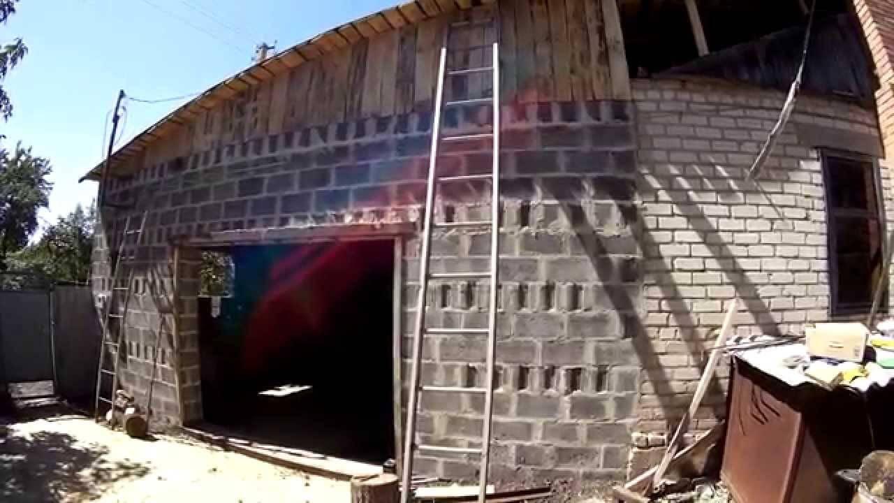 Как строить и сколько стоит гараж из шлакоблока своими руками: проект, фото