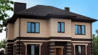 Фасад дома из облицовочного кирпича • 333+ фото • [артфасад]