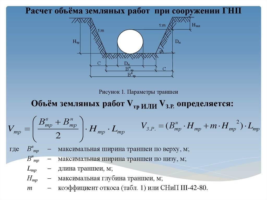 Объем котлована с откосами: формула, как посчитать