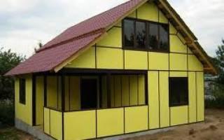 Строительство дома из сэндвич панелей своими руками: пошаговая инструкция +видео