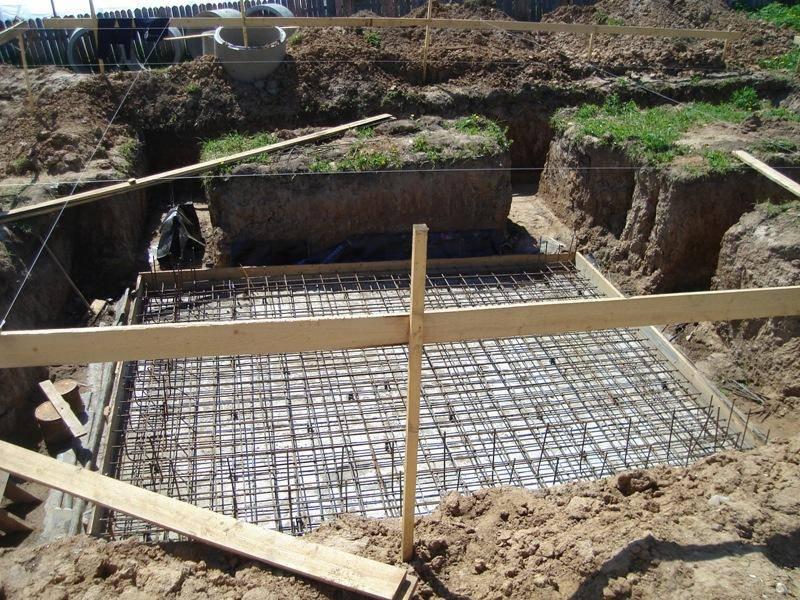 Технология строительства фундамента с подвалом