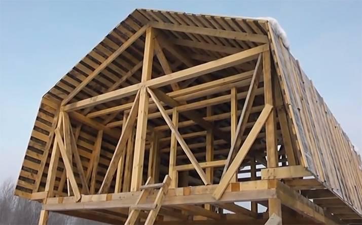 Стропила мансардной крыши: как сделать стропильную систему, чертежи стропил двухскатной мансарды с дополнительным скатом, монтаж, расчет, установка