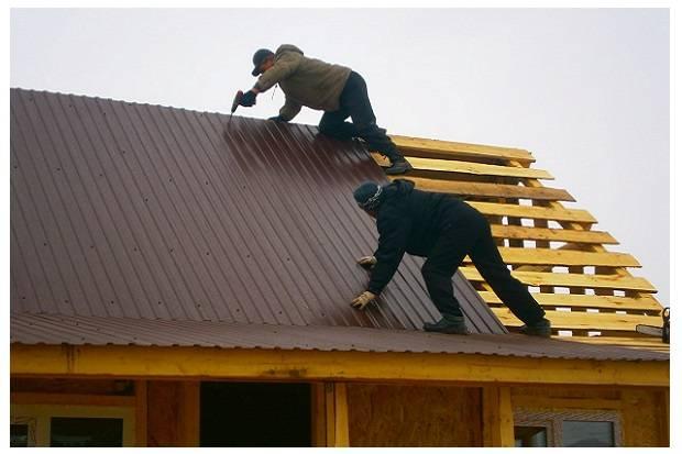 Крыша из профнастила своими руками – технология монтажа