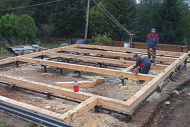 Столбчатый фундамент для каркасного дома