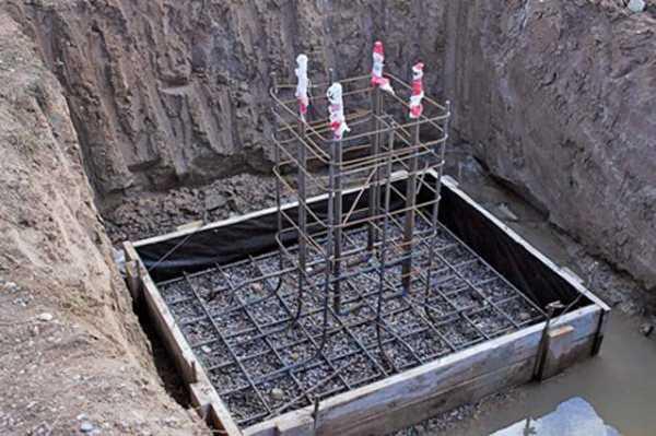 Монолитный железобетонный фундамент под колонны: вид оснований