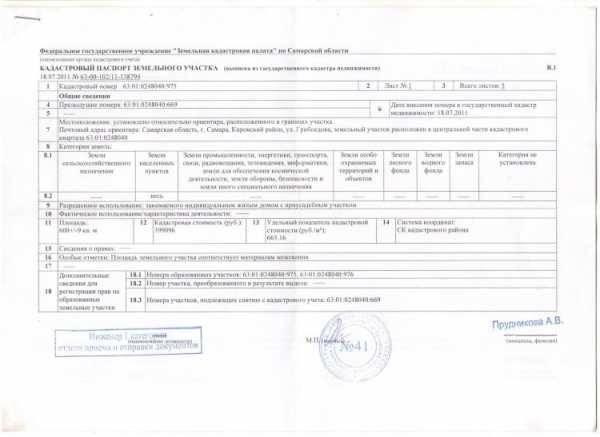 Время действия кадастрового паспорта на земельный участок