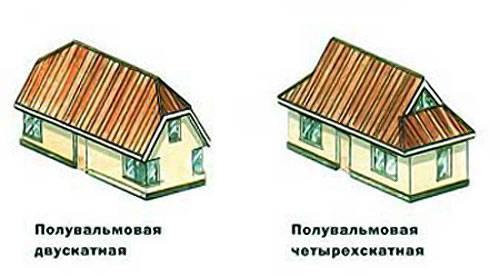 Конструкция стропильной системы полувальмовой крыши