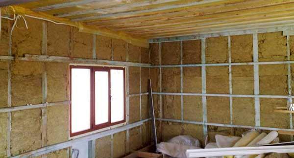 Как утеплить дом из бруса снаружи минеральной ватой