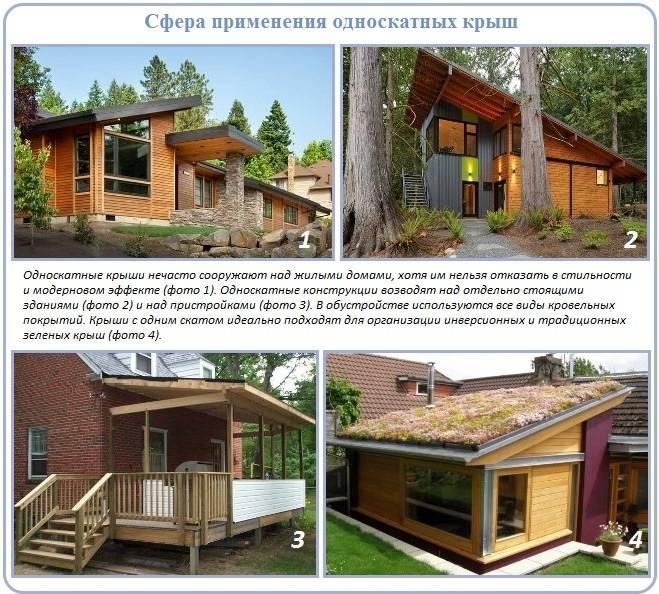 Конструкция стропильной системы односкатной крыши, порядок сборки