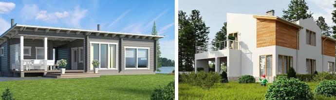 Проекты домов с односкатной крышей: варианты с фото