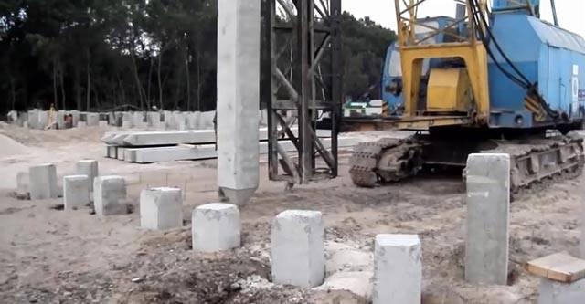 Забивной фундамент: фото, видео, отзывы, свайный фундамент на жб сваях