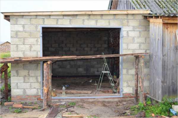 Как построить гараж своими руками из шлакоблока?