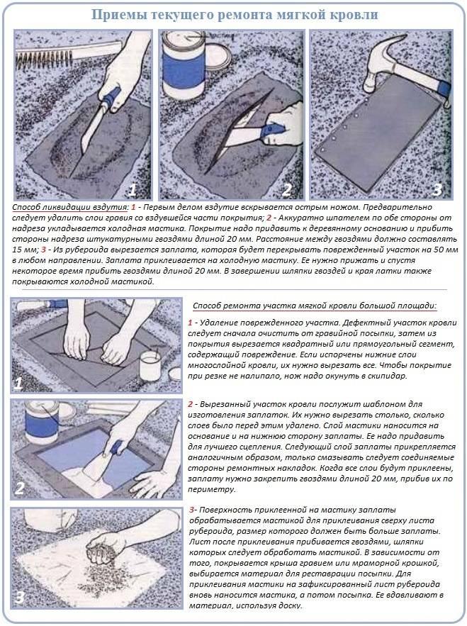 Ремонт плоской кровли: используемые материалы и технологии