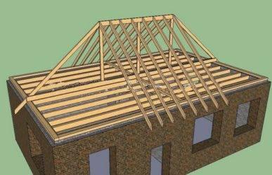 Стропильная система четырехскатной крыши: устройство, чертежи, монтаж, план, расчет узлов