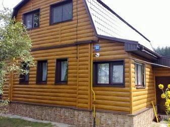 Виниловый сайдинг блок-хаус (24 фото): преимущества и виды пластиковых панелей, цвета под дерево и бревно, производитель docke и отзывы