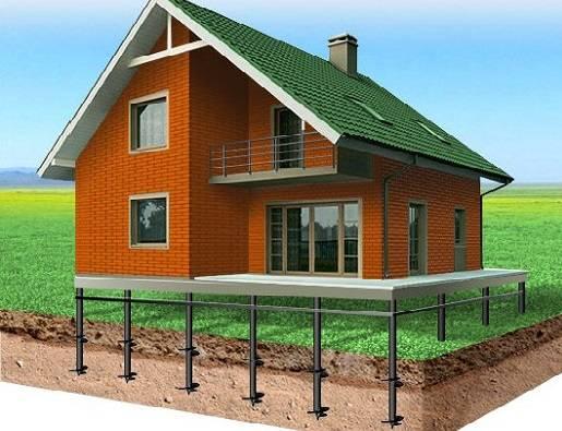 Достоинства и недостатки, этапы возведения свайного фундамента для каркасного дома