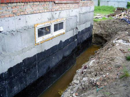 Необходимость, варианты и технология выполнения гидроизоляции плиты фундамента