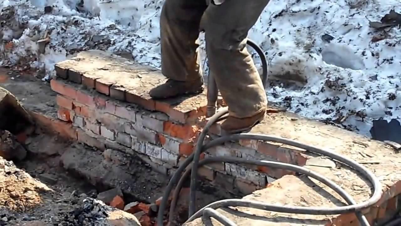 Как произвести демонтаж фундамента?