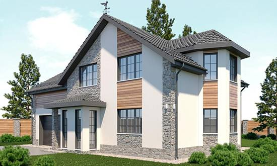 Как произвести отделку фасада дома камнем и штукатуркой + фото частных домов