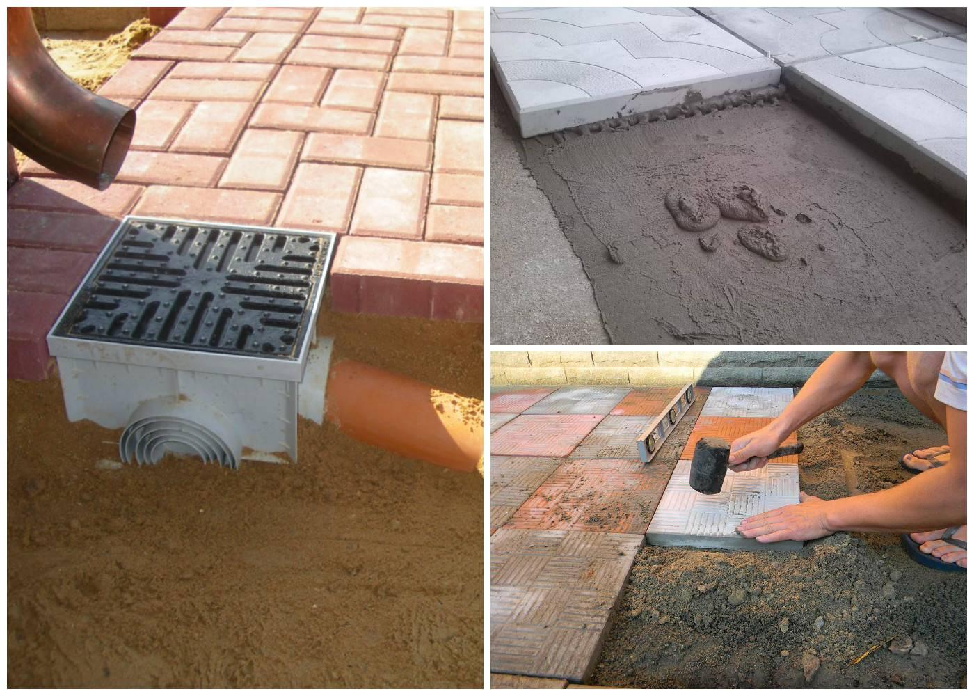 Как правильно сделать отмостку вокруг дома из тротуарной плитки своими руками?