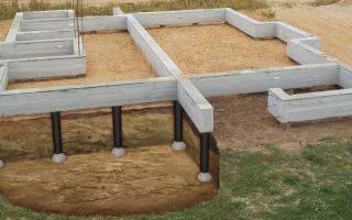 Глубина и высота свайных фундаментов