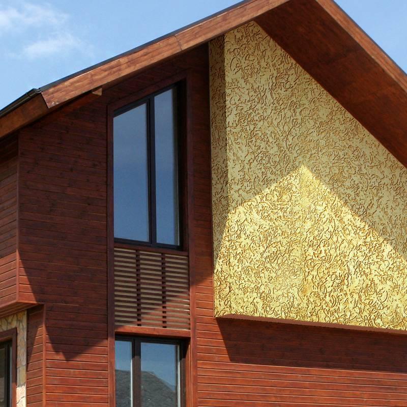 Декоративная штукатурка для наружной отделки фасадов стен дома  - 27 фото