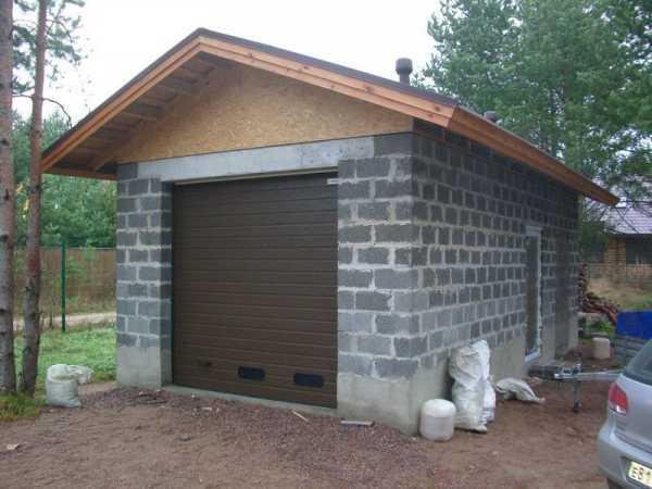 Гараж из газоблока: технологические требования, какой должна быть толщина стен из газобетона, проект, материалы, инструкция по строительству