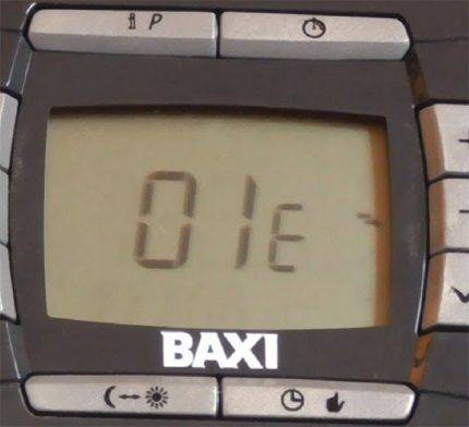 Что делать, если на газовом котле бакси (baxi) загорается ошибка е01