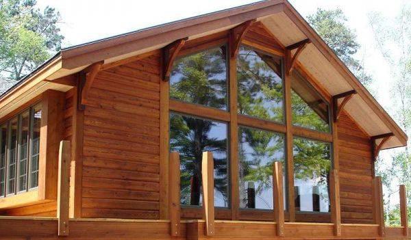 Различные варианты блок хауса для фасада:породы дерева и аналоги