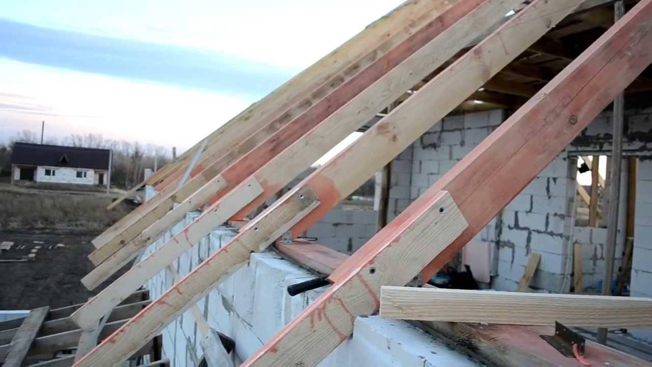 Стропильная система двухскатной крыши: устройство и монтаж своими руками, видео и фото