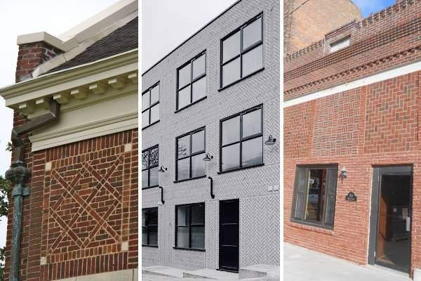 Какие бывают виды кладки облицовочного кирпича + фото различных вариантов дизайна домов