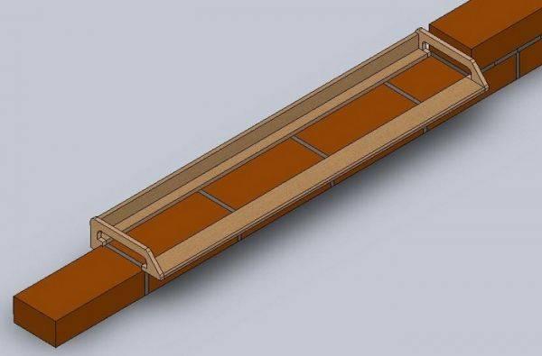 Приспособление для кладки кирпича - рейки, формы, кельмы