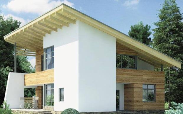 Угол наклона односкатной крыши: оптимальный и минимальный