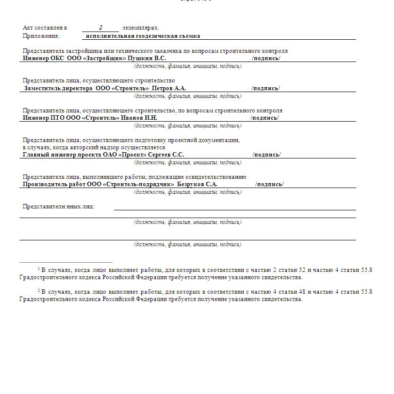 Акт осмотра открытых траншей и котлованов под фундаменты форма 6 - строим сами
