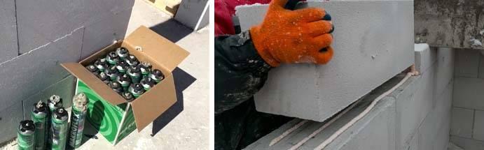 Клей для газобетонных блоков: пена для газобетона, расчет расхода на 1 куб. м, зимний морозостойкий состав, технология кладки