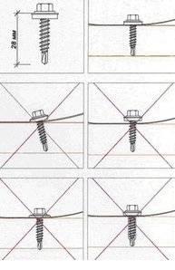 Как крепить металлочерепицу