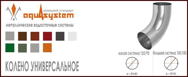 Аквасистем / aquasystem металлический водосток (россия) - санкт-петербург - актуальные цены на март 2021 года - «топ хаус» +7 (812) 244-60-70