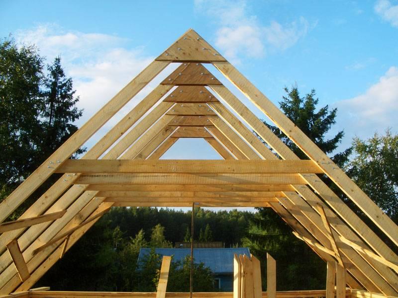 Стропильная система мансардной крыши: конструкция, чертеж, установка