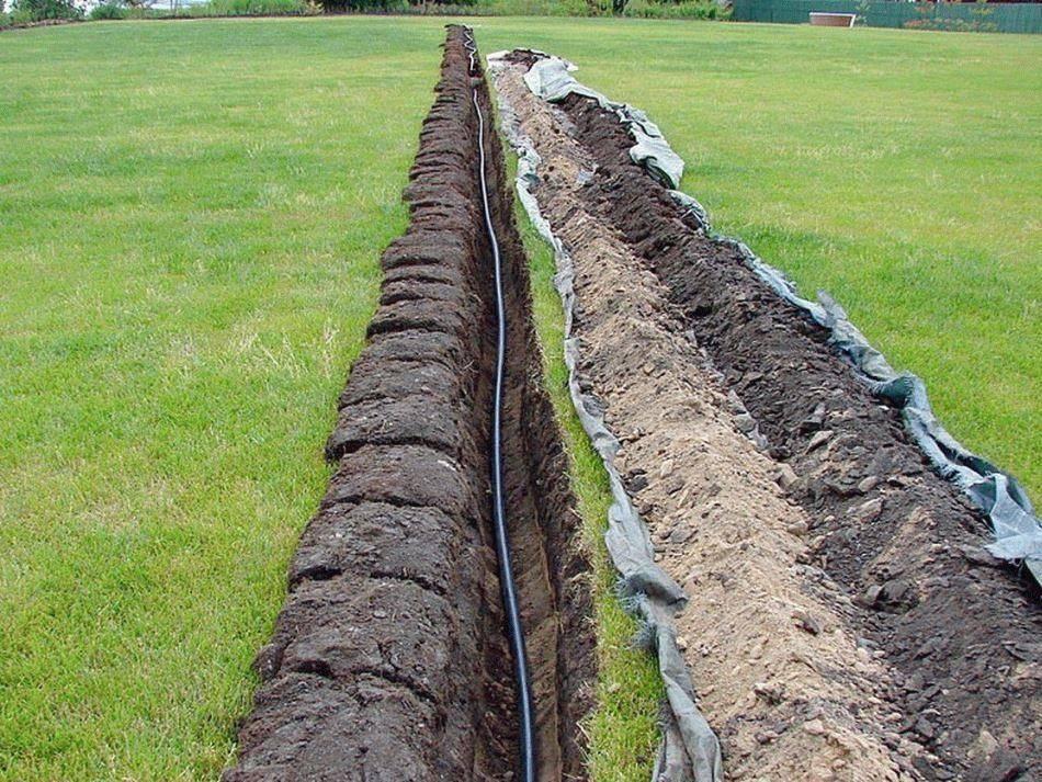 Глубина прокладки водопроводных труб: видео-инструкция по укладке своими руками, особенности заложения, на каком расстоянии от земли прокладывают, закапывают водопровод, цена, фото