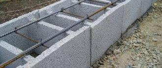 Фундамент из шлакоблока своими руками. плюсы и минусы фундамента из шлакоблока   строй сам