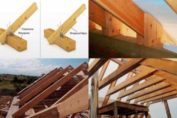 Назначение и особенности устройства мауэрлата при строительстве односкатной крыши