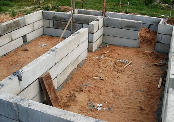 Фундамент из блоков фбс: все про строительство блочного фундамента