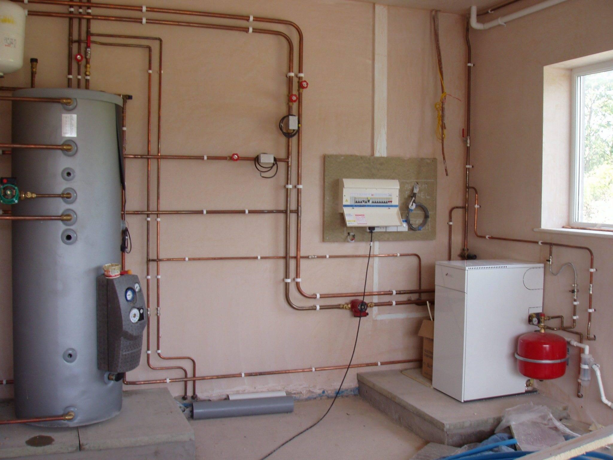 Установка двухконтурного газового котла в частном доме