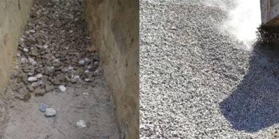 Отмостка из щебня или гравия, без какого либо бетонирования