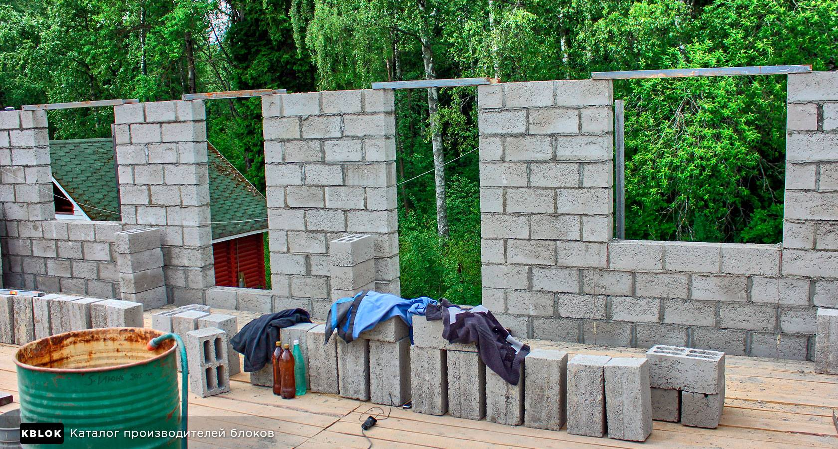 Дом из керамзитобетонных блоков - как построить и утеплить
