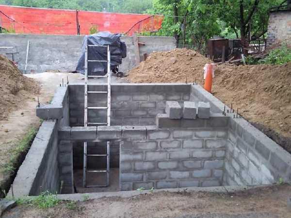 Стены погреба: особенности выбора материалов