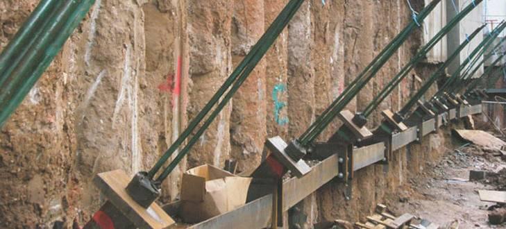 Как укрепить стенки  котлованов и траншей